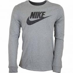 Nike Longshirt Futura Icon grau/schwarz