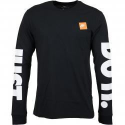 Nike Longshirt HBR schwarz/weiß