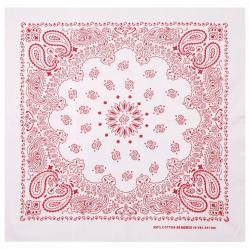 MasterDis Bandana Original Paisley white/red