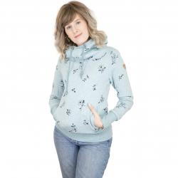 Ragwear Damen-Hoody Yoda Flowers light blue