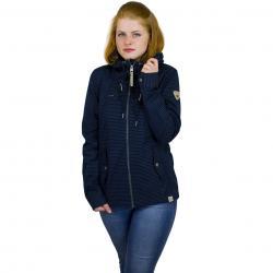 Ragwear Damen-Jacke Monade Stripes dunkelblau