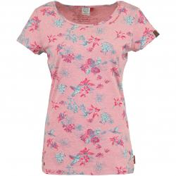Ragwear Damen T-Shirt Mint Flowers rosa
