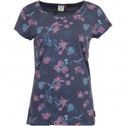 Ragwear Damen T-Shirt Mint Flowers navy