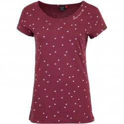 Ragwear Damen T-Shirt Mint Hearts dunkelrot