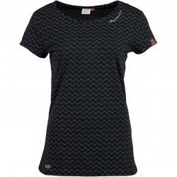 Ragwear Damen T-Shirt Mint Zig Zag schwarz