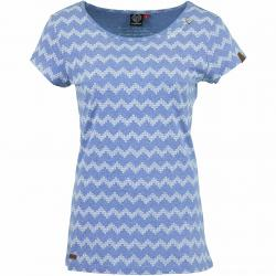 Ragwear Damen T-Shirt Mint Zig Zag blau