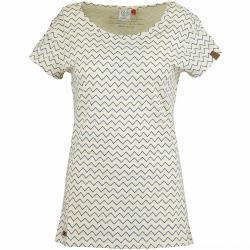 Ragwear Damen T-Shirt Mint Zig Zag beige