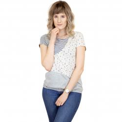 Ragwear Damen T-Shirt Taby Block Organic beige