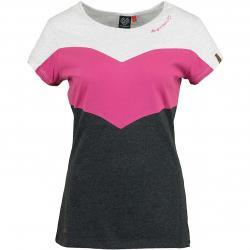 Ragwear Damen T-Shirt Trefa weiß/pink/grau