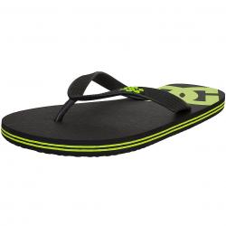 DC Shoes Flip-Flop Spray schwarz/lime