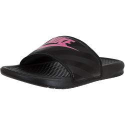 Nike Damen Badelatschen Benassi Just Do It schwarz/pink