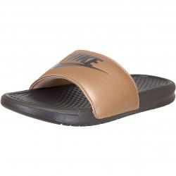 Nike Damen Badelatschen Benassi Just Do It bronze/grau