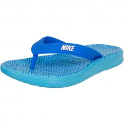 Nike Damen Flip-Flop Solay Thong Print blau/weiß