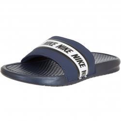 Nike Badelatschen Benassi dunkelblau/weiß