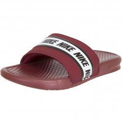 Nike Badelatschen Benassi rot/weiß