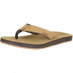 Reef Flip-Flop Cushion Contoured Leather hellbraun