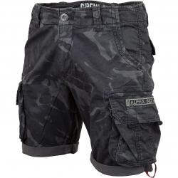 Alpha Industries Shorts Crew camo schwarz