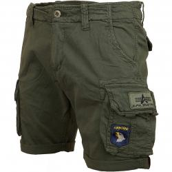 Alpha Industries Shorts Crew Patch oliv