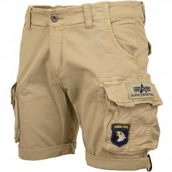 Alpha Industries Shorts Crew Patch sand