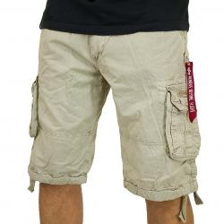 Alpha Industries Jet Shorts bone white
