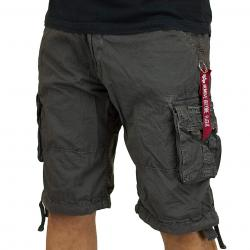 Alpha Industries Jet Shorts grau
