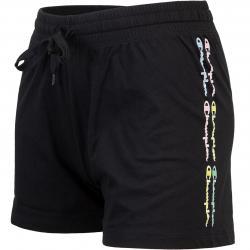 Champion Small Logo Damen Shorts schwarz
