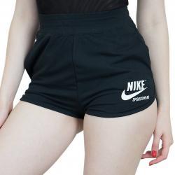 Nike Damen Shorts Archive Jersey schwarz/weiß