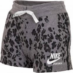 Nike Damen Shorts Gym Vintage Leopard schwarz/grau/weiß