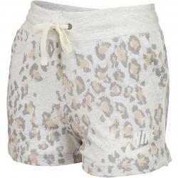 Nike Damen Shorts Gym Vintage Leopard beige/grau