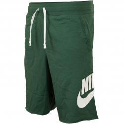Nike Shorts Alumni French Terry grün/weiß