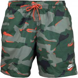 Nike Shorts CE Camo Woven grün/orange