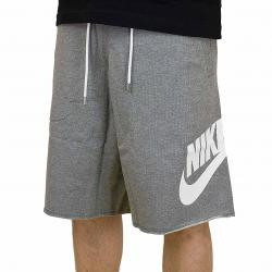 Nike Shorts French Terry GX 1 carbon grau/weiß