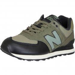 New Balance Sneaker 574 Leder/Mesh/PU grün/schwarz