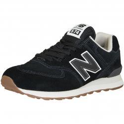 New Balance Sneaker 574 Leder/Synthetik schwarz