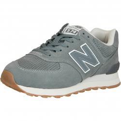 New Balance Sneaker 574 Leder/Synthetik grau
