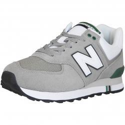 New Balance Sneaker 574 Leder/Textil grau/grün