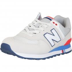 New Balance Sneaker 574 Leder/Textil beige/blau/rot