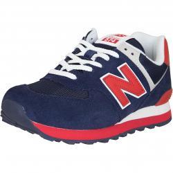 New Balance Sneaker 574 Leder/Textil dunkelblau/rot
