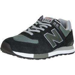 New Balance Sneaker 574 Leather/Textile/PU schwarz/grün