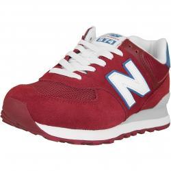 New Balance Sneaker 574 Leder/Textil rot