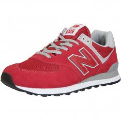New Balance Sneaker 574 Wildleder/Mesh/Synthetik rot