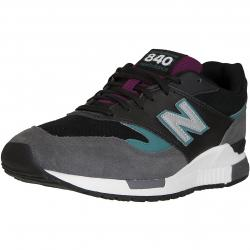 New Balance Sneaker 840 Leder/Textil grau/schwarz/türkis