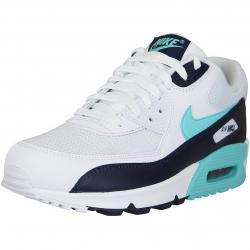 Nike Sneaker Air Max 90 Essential weiß/dunkelblau/türkis
