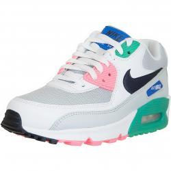 Nike Damen Sneaker Air Max 90 Essential weiß/pink/grün