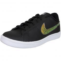 Nike Damen Sneaker Tennis Classic Premium schwarz/weiß