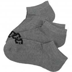 DC Shoes Socken Ankle 3er grau