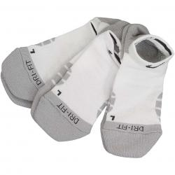Nike Damen Socken Dry Cushion No Show 3er weiß/grau