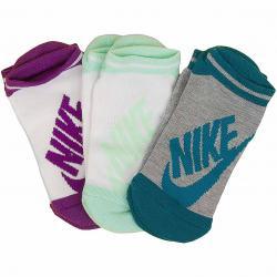 Nike Damen Socken Striped No Show 3er multi