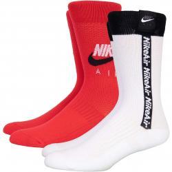 Nike Air Crew Socken 2er Pack rot/weiß