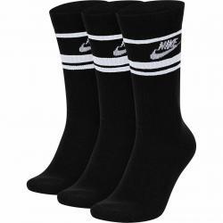Nike Essential Stripe Crew Socken 3er Pack schwarz/weiß